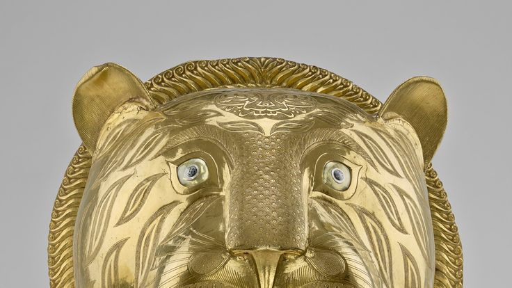 An Indian tiger's head taken from the throne of Tipu Sultan. Pic: Royal Collection Trust