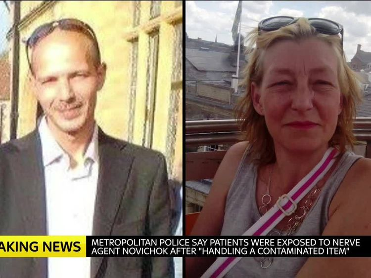 Man poisoned by Novichok in England conscious, hospital officials say class=