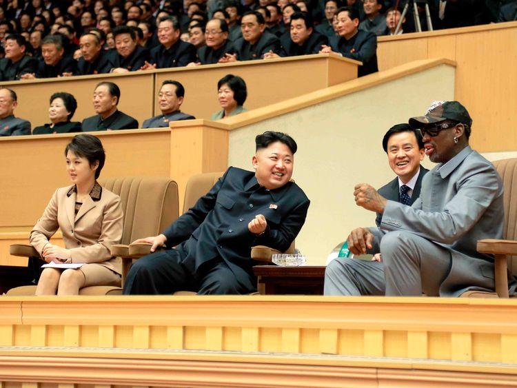 Dennis Rodman and Kim Jong Un