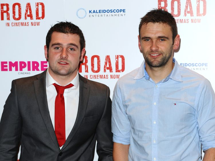 Michael Dunlop and William Dunlop attends a gala screening of 'Road' at Empire Leicester Square on June 11, 2014 in London, England. (Photo by Anthony Harvey/Getty Images)