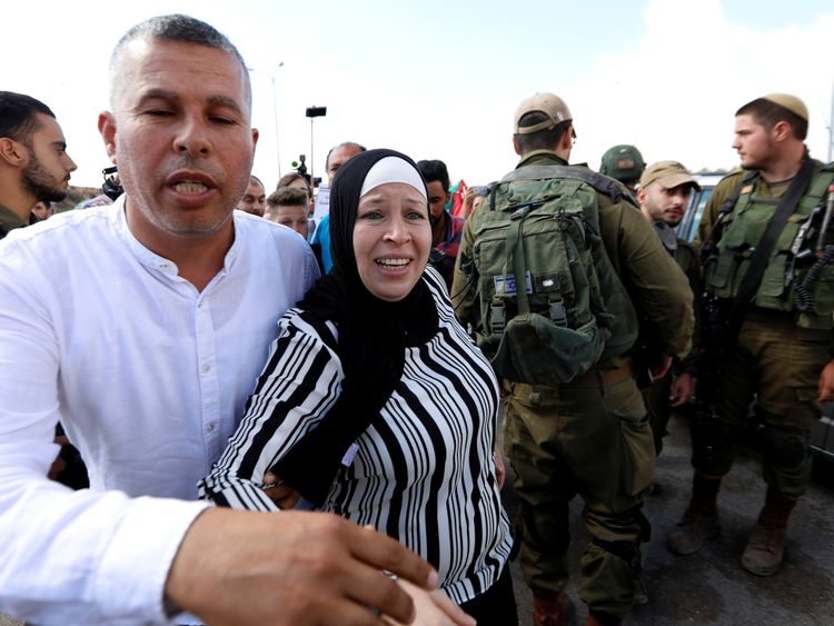 Nareman, mother of Palestinian teenager Ahed Tamimi, had also been in jail