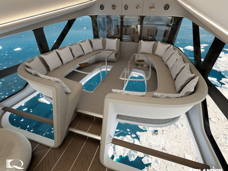 Airlander 10 features glass floors so passengers can take in the views. Pic: Design Q/Airlander/Cover Images