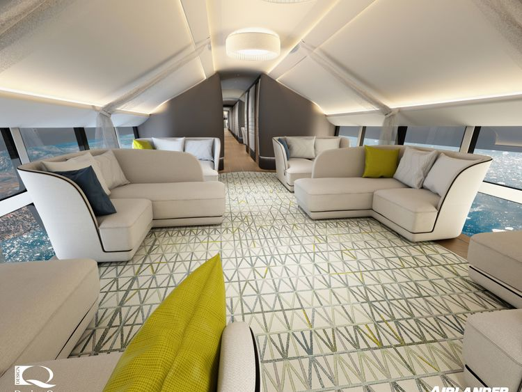 A luxury lounge area on the Airlander 10. Design Q/Airlander/Cover Images