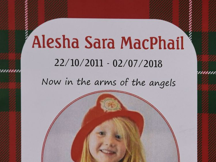 The order of service for the funeral of six-year-old Alesha MacPhail