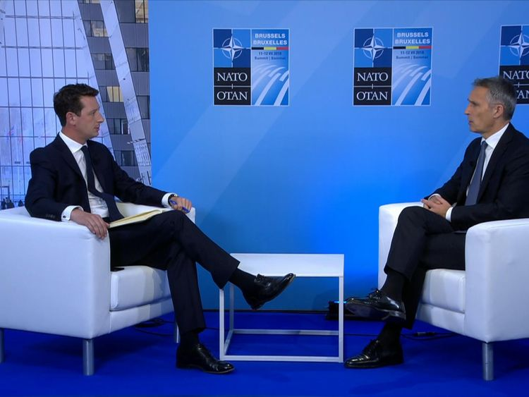 Mr Stoltenberg spoke to Sky News on the eve of a crucial summit