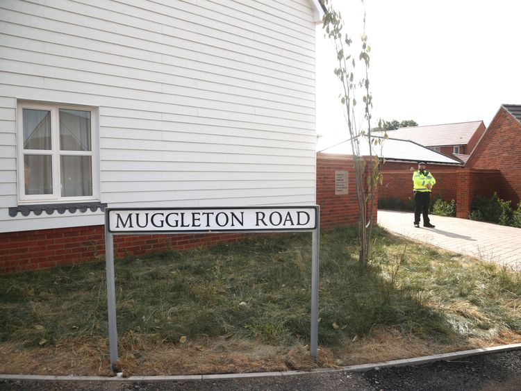 Police activity outside a block of flats on Muggleton Road in Amesbury, Wiltshire, where a major incident has been declared after it was suspected that two people might have been exposed to an unknown substance. PRESS ASSOCIATION Photo. Picture date: Wednesday July 4, 2018. Police say that the man and woman, both in their 40s, are in a critical condition at Salisbury District Hospital. See PA story POLICE Amesbury. Photo credit should read: /PA Wire