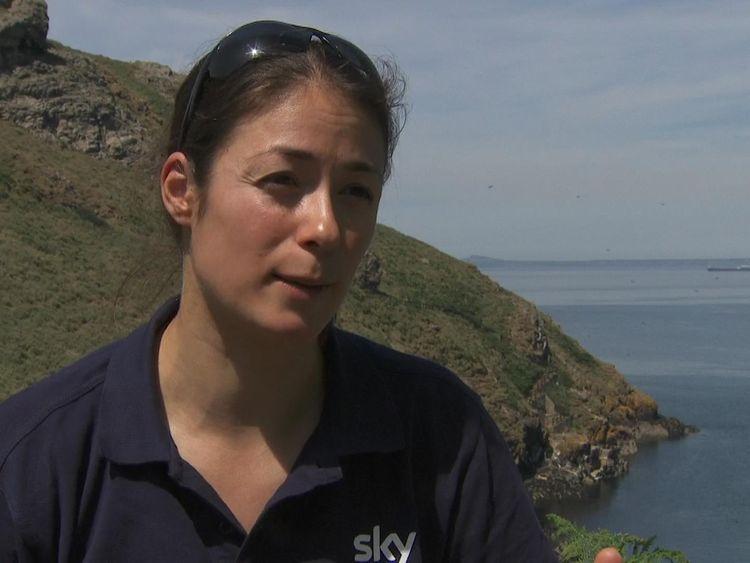 Seabird scientist Annette Fayet