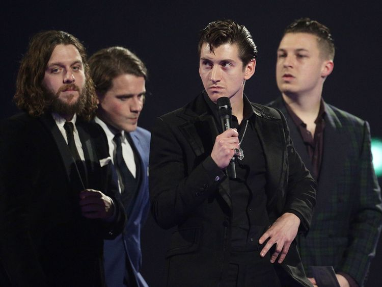 Arctic Monkeys are the second-most nominated act in the history of the awards