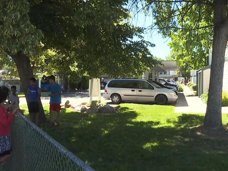 A three-year-old girl died following the attack on nine people at an apartment block in Boise
