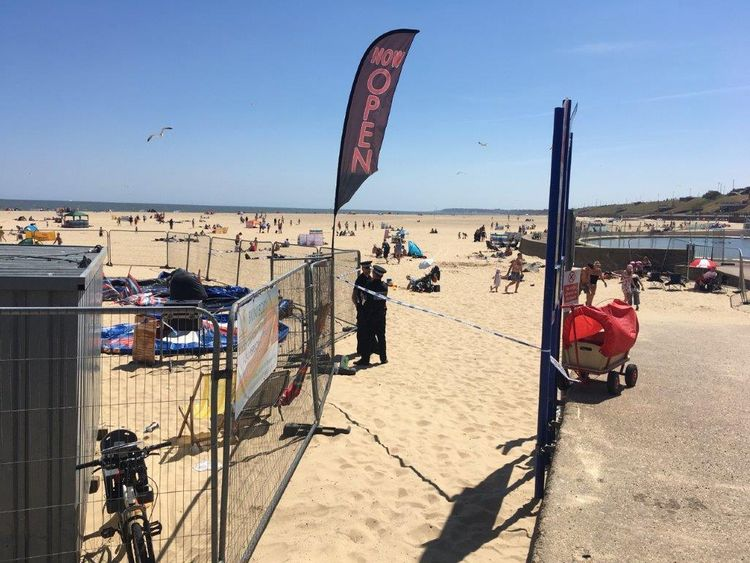 Girl dies after bouncy castle 'explodes' on beach