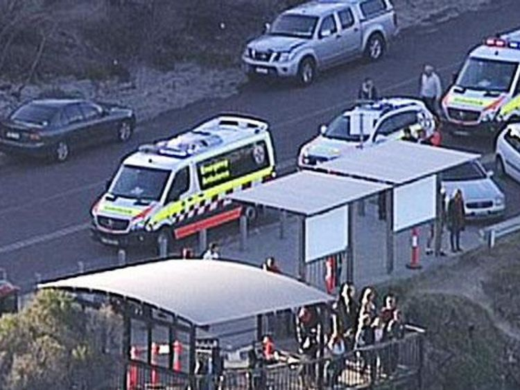 The teen was visiting the Cape Solander area with 15 friends, according to reports. Pic: 7 News