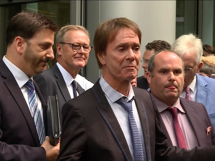 Sir Cliff Richard speaks for the first time since being awarded £210,000 in damages at the High Court in London for his case against the BBC.