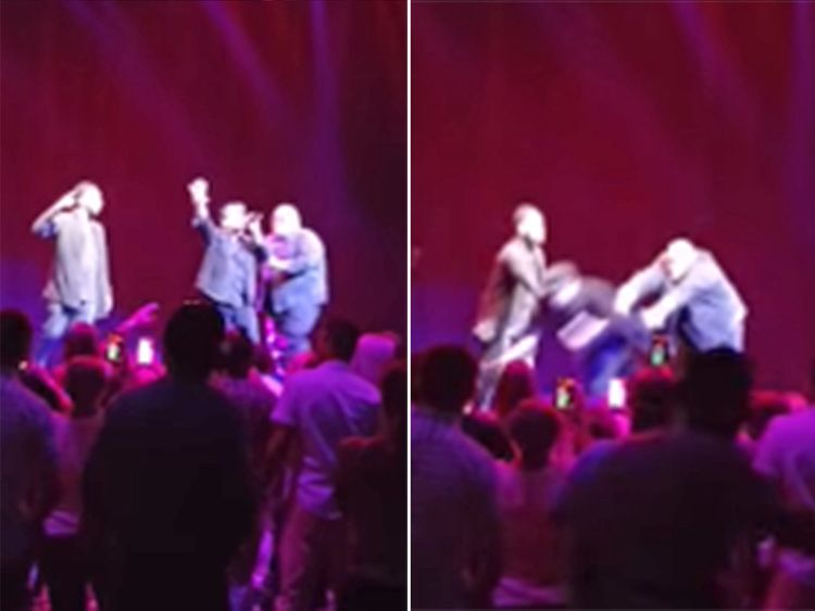 Color Me Badd singer arrested after pushing bandmate on stage