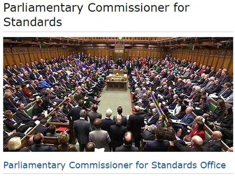 Parliamentary Commissioner for Standards website