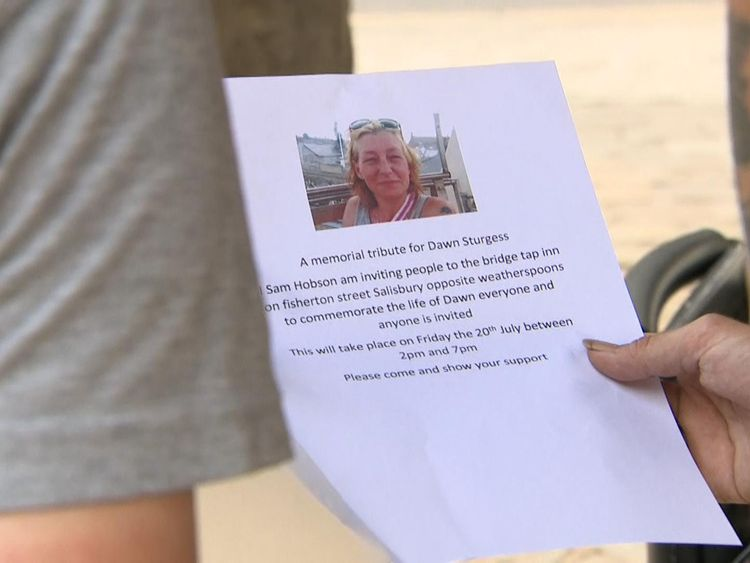A memorial is being planned by the friends of Dawn Sturgess