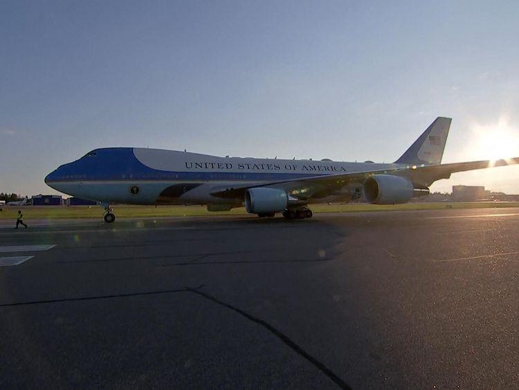 Donald Trump has arrived in Helsinki