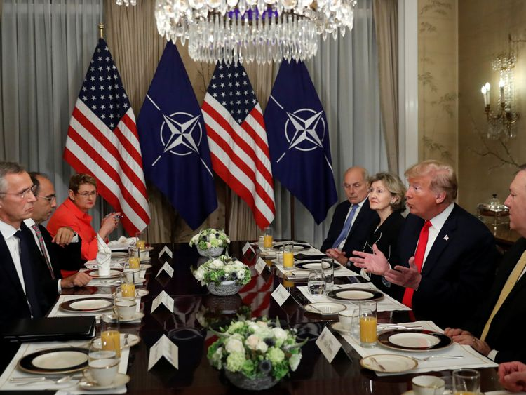 Trump dubs himself 'stable genius' for getting North Atlantic Treaty Organisation  allies to pay up