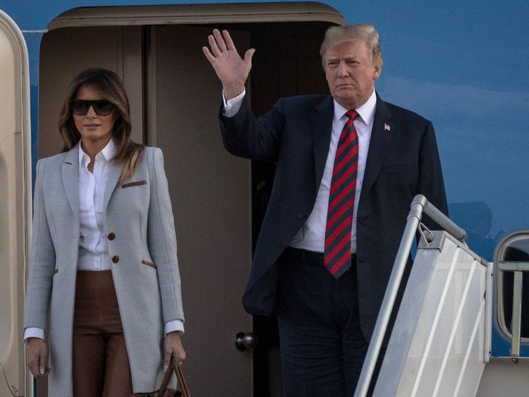Donald and Melania Trump have arrived in Helsinki