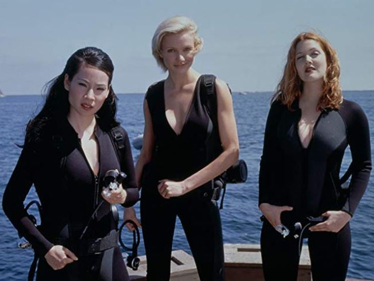 Drew Barrymore, Cameron Diaz and Lucy Liu in 200 film Charlie's Angels