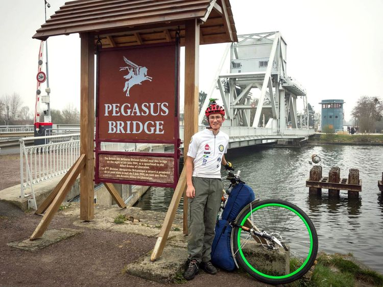 Arriving at Pegasus Bridge in Normandy