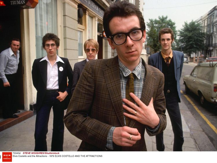 Elvis Costello and The Attractions in 1979