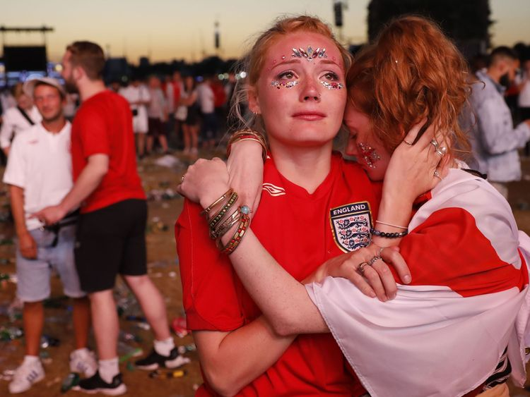 Fans show their devastation at the result