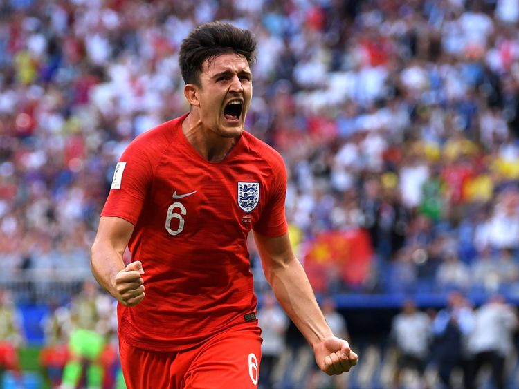 A Harry Maguire header gave England the lead 30 minutes in