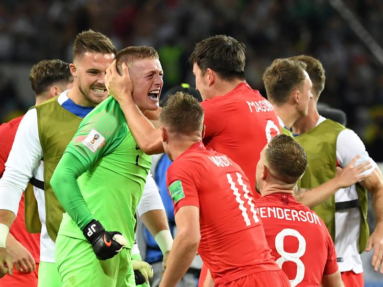 England beat Colombia in a dramatic penalty shoot-out