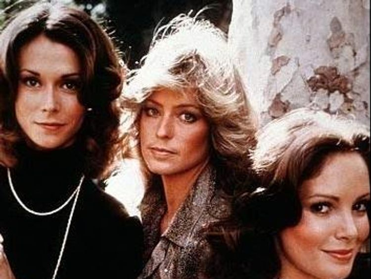 Farrah Fawcett, Kate Jackson and Jaclyn Smith in TV show Charlie's Angels