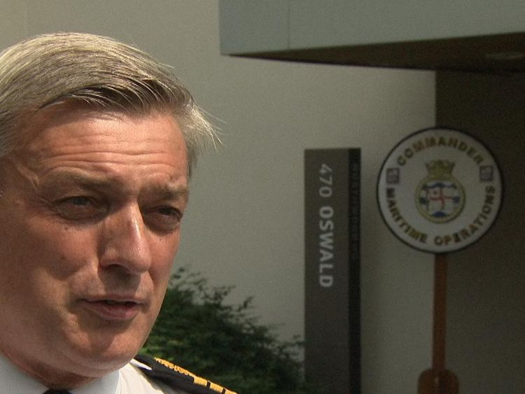 First Sea Lord Admiral Sir Philip Jones speaks to Sky News