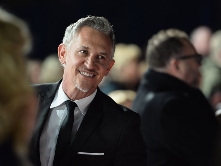 Gary Lineker attends the National Television Awards