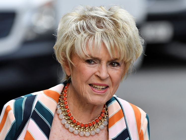 Presenter Gloria Hunniford was at the High Court to support Sir Cliff