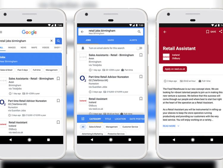 Google launches UK job searching service