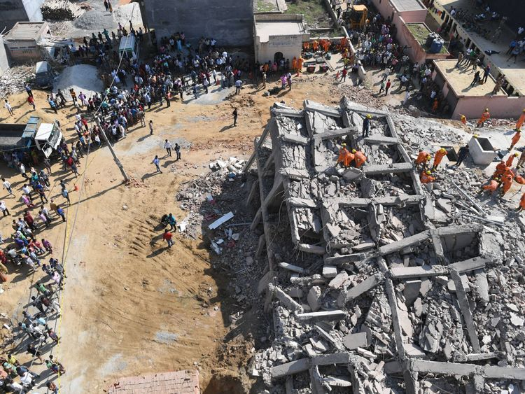 Indian building collapse kills 3, with 12 missing