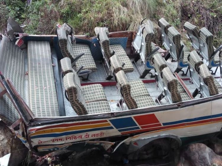 At least 48 dead as bus crashes into 700ft ravine