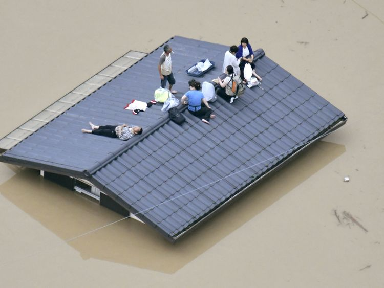 Residents stranded in southern Japan