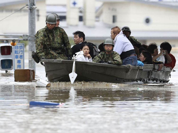 The military has been called in to help with the rescue effort