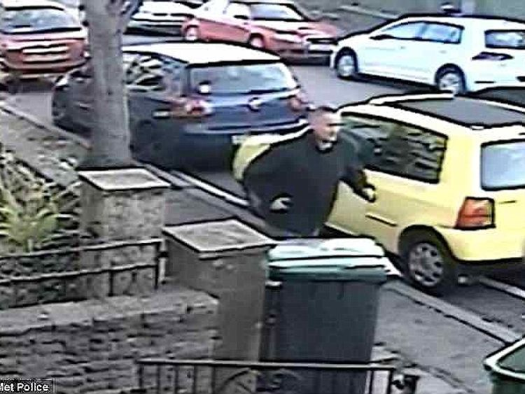 CCTV images showed Kevin Bond running away after carrying out one of his attacks