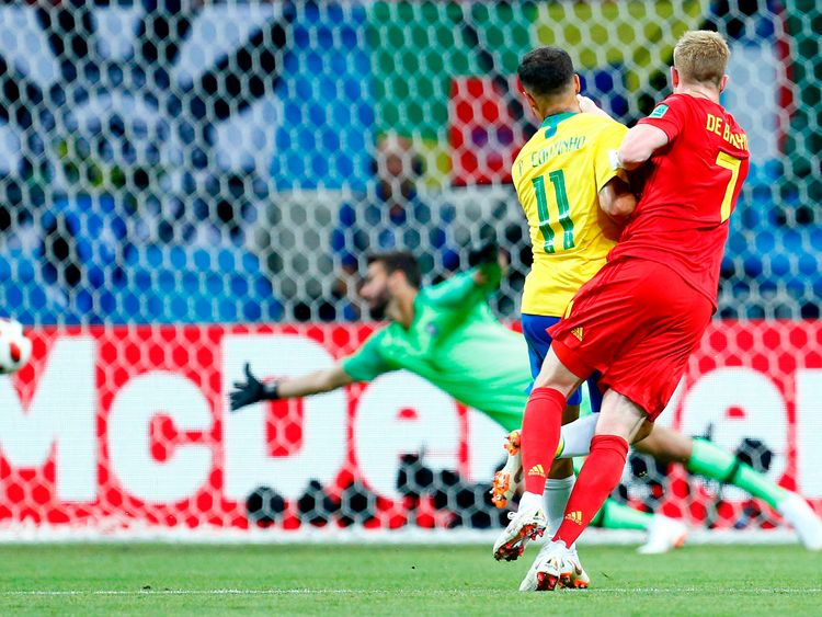 De Bruyne lit up the Kazan Arena with a stunning finish