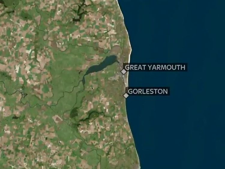 The incident happened on a popular Norfolk beach