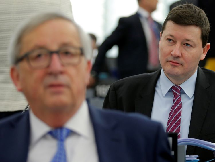Martin Selmayr (right) is a key ally of Jean-Claude Juncker