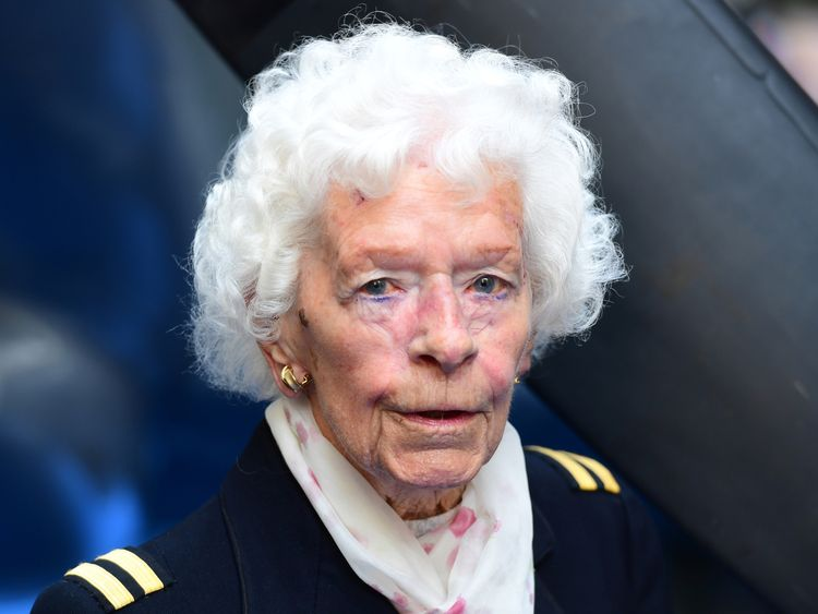 RAF Veteran Mary Ellis attending the premiere of Spitfire, held at the Curzon Mayfair, London.