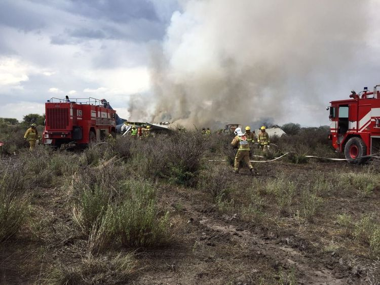 The scene: pic: State Coordination of Civil Protection, Durango/Twitter.