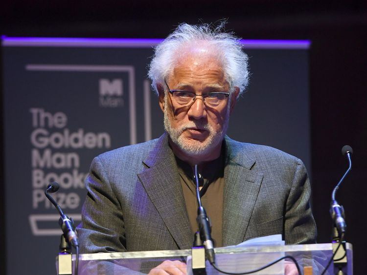 Canadian Michael Ondaatje accepts the Golden Booker Prize