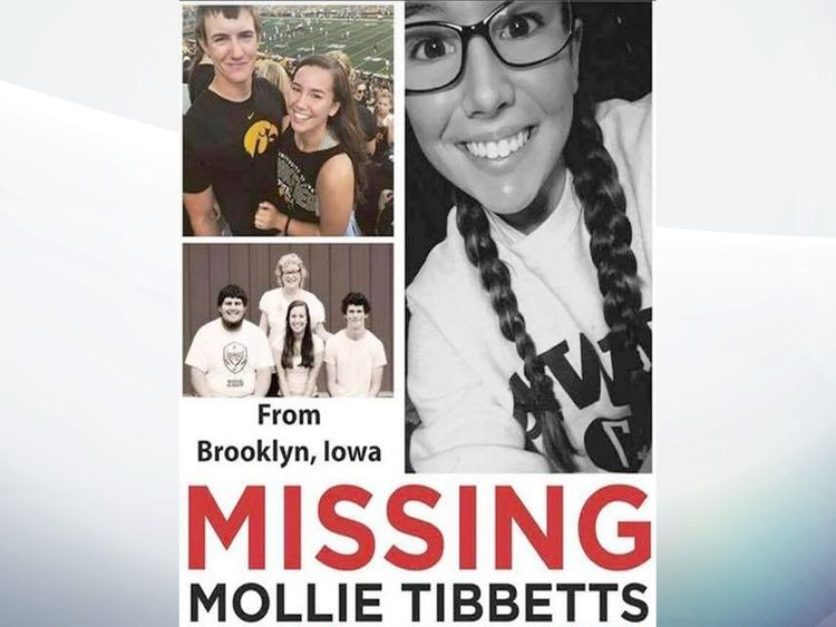 College student Mollie Tibbetts missing in Iowa after going running