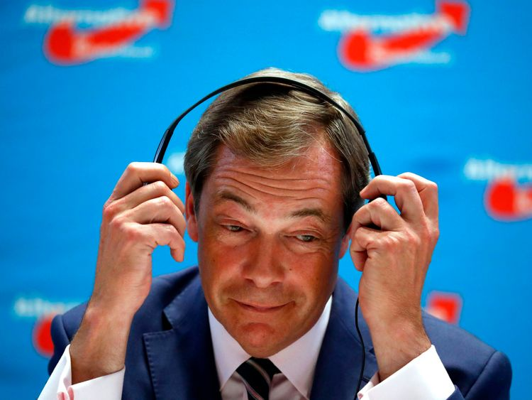 The ex-UKIP leader has been asked to drop the name of his podcast Farage Against the Machine