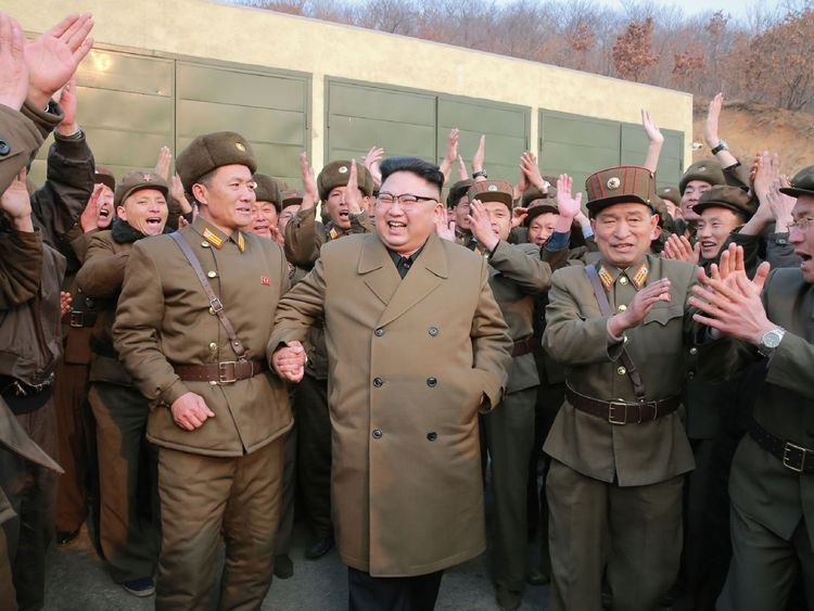 North Korea's leader Kim Jong Un inspects the Sohae Satellite Launching Ground in North Korea