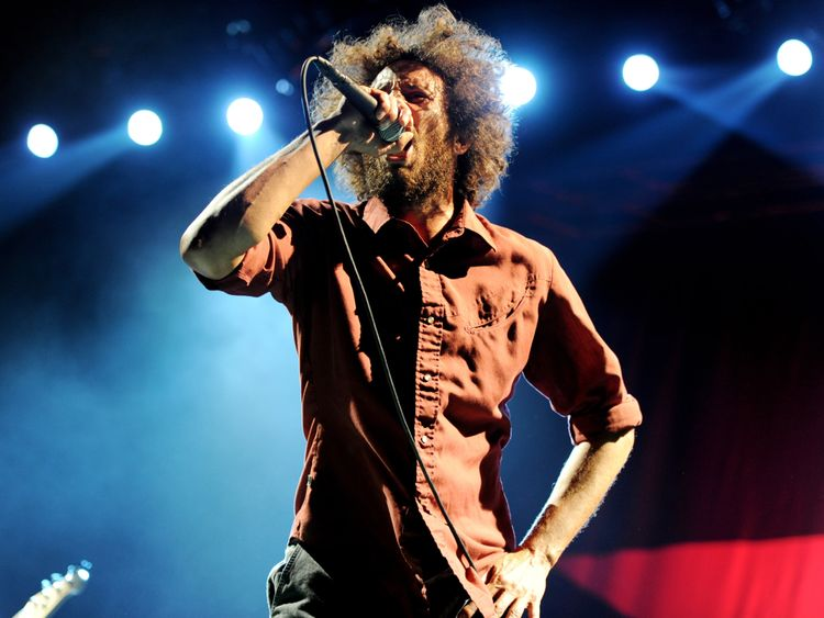 Zack de la Rocha of Rage Against The Machine is keen not to be associated with Mr Farage