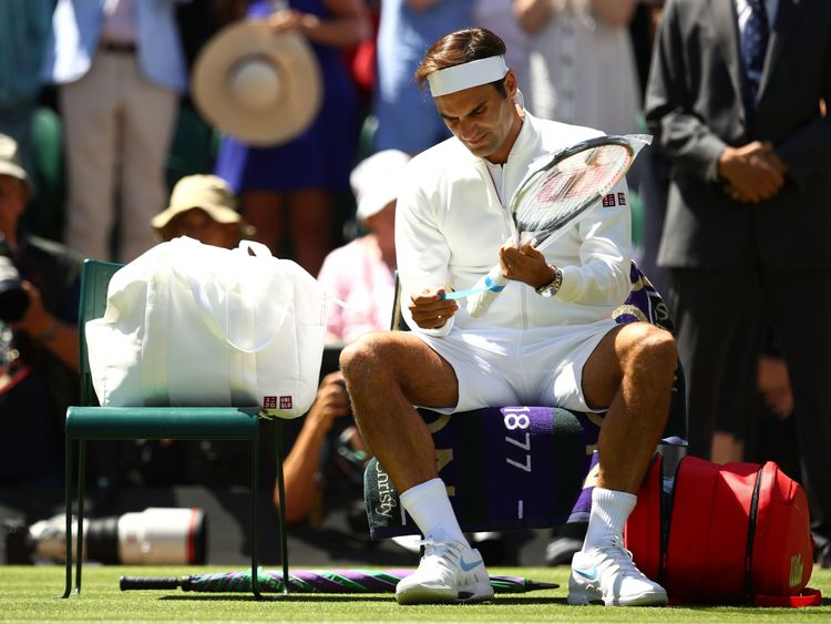 Federer, Serena in Wimbledon masterclass as Wozniacki crashes