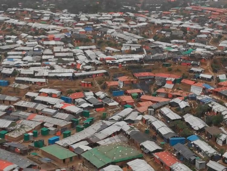almost a million Rohingya refugees are in Bangladesh camps